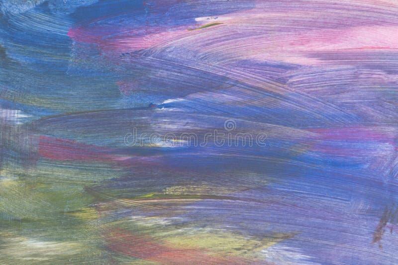 Fond peint à la main texturisé artistique abstrait sur la toile photographie stock libre de droits