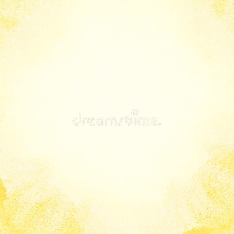 Fond peint d'aquarelle du soleil. photographie stock