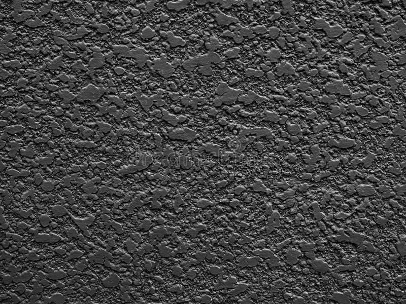 Fond peint de mur de plâtre, noir mat photo stock