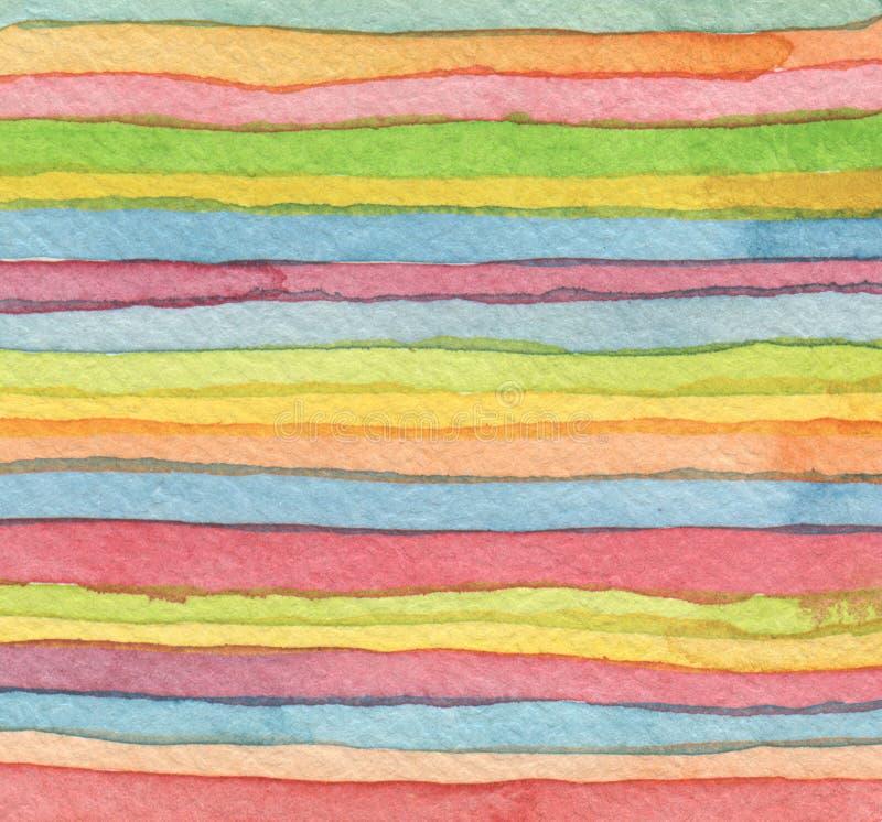 Fond peint par aquarelle abstraite de bande illustration libre de droits