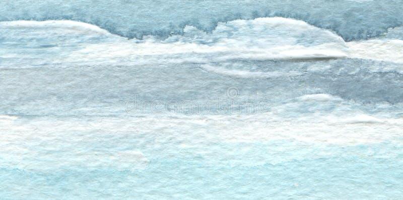 Fond peint par course bleue abstraite de brosse d'aquarelle Textur illustration de vecteur
