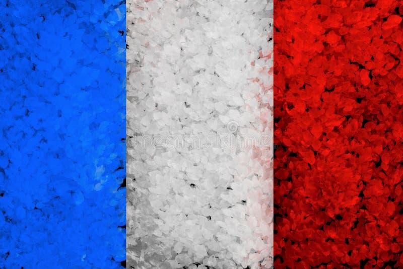 Fond peint par grunge avec le drapeau français photographie stock