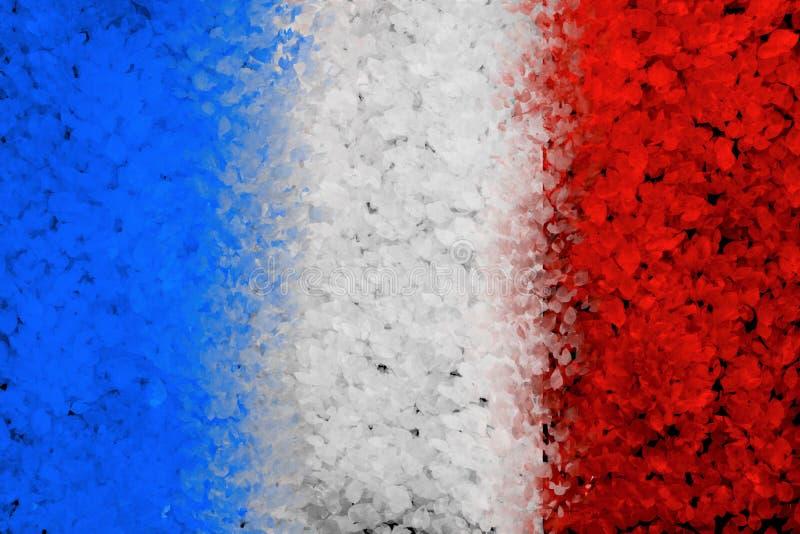 Fond peint par grunge avec le drapeau français images libres de droits