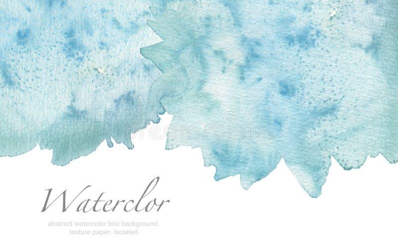 Fond peint par tache abstraite d'aquarelle Donnez au papier une consistance rugueuse Isolant illustration stock