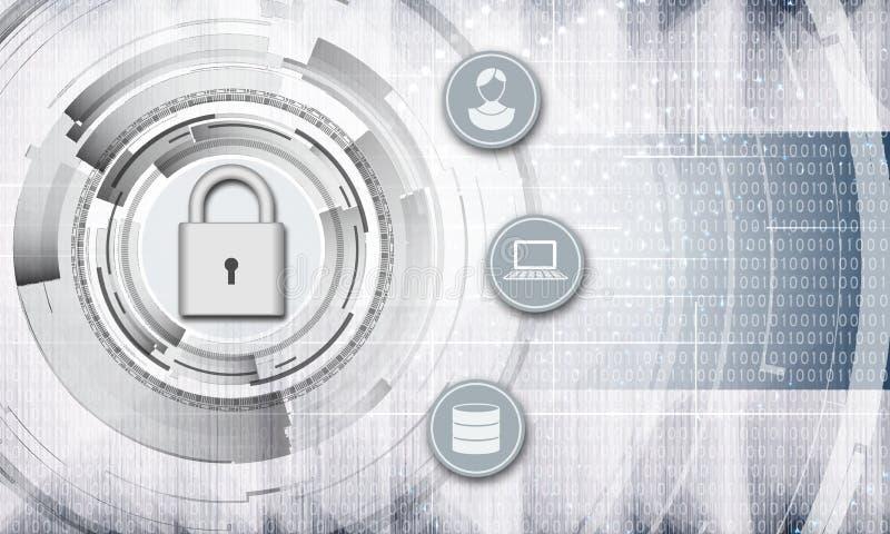 Fond personnel d'abrégé sur protection des données illustration libre de droits