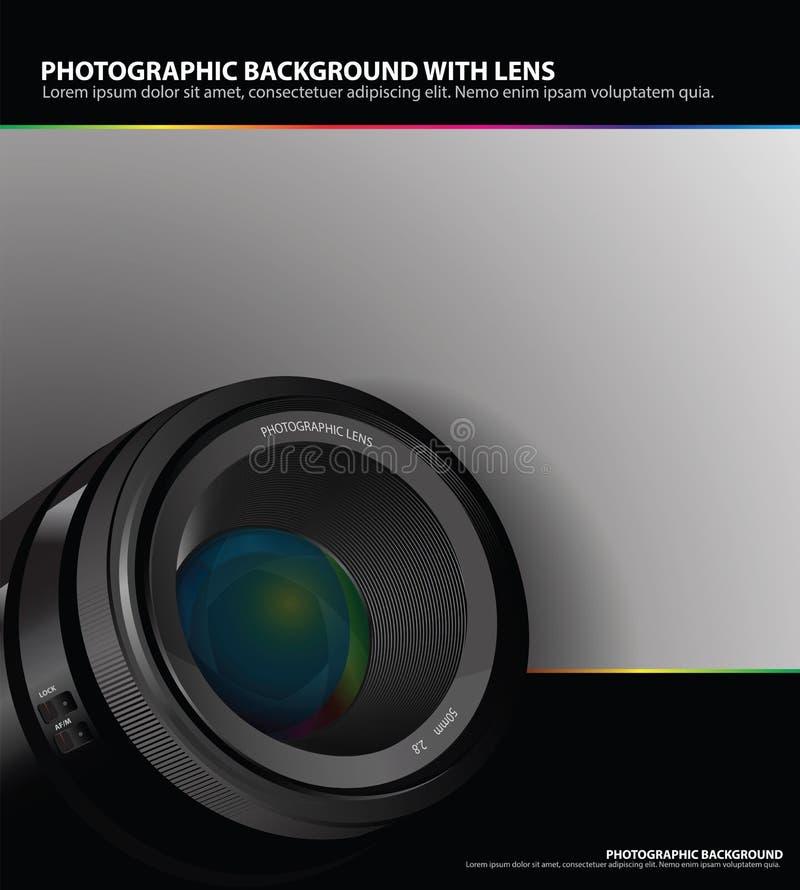 Fond photographique abstrait avec la lentille illustration de vecteur