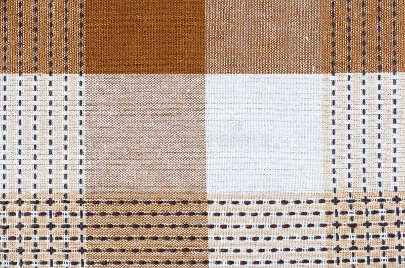 Fond piqué à carreaux de toile de texture de tissu images libres de droits