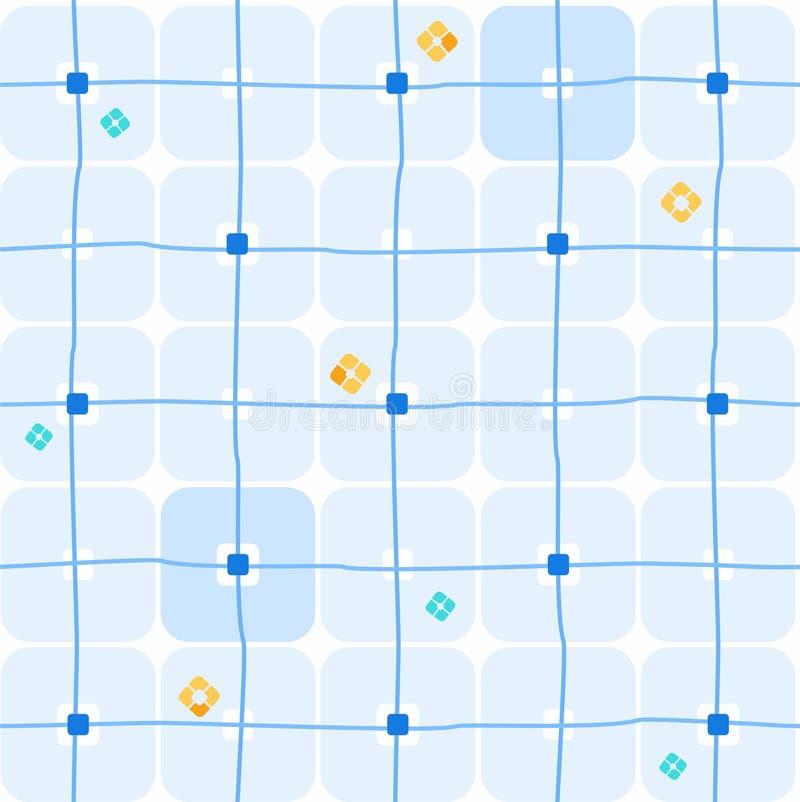 Fond, places bleues géométriques, sans couture, grandes sur le blanc illustration libre de droits