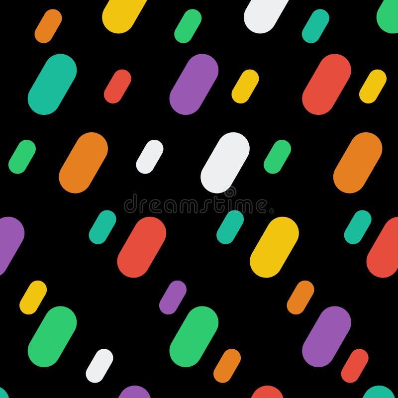 Fond plat de conception d'éléments géométriques colorés à la mode photos stock