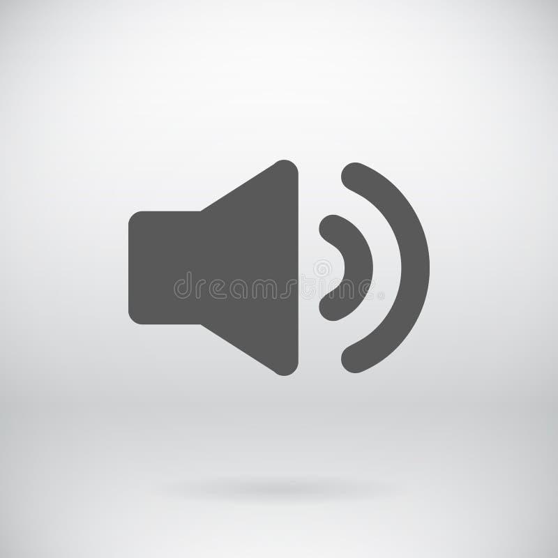 Fond plat de symbole de bruit de vecteur de signe de haut-parleur illustration libre de droits