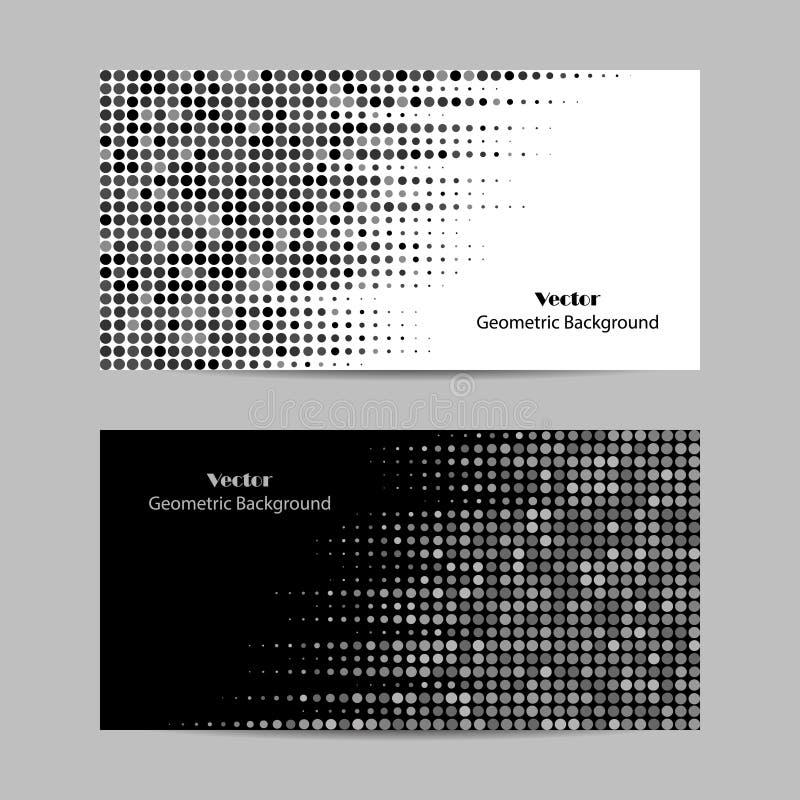 Fond pointillé par abstrait halftone Illustration de vecteur dans des couleurs noires et blanches illustration de vecteur