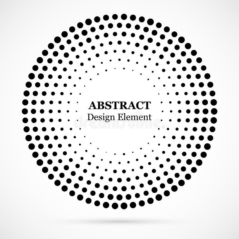 Fond pointillé par image tramée circulairement distribué Effe tramé illustration libre de droits