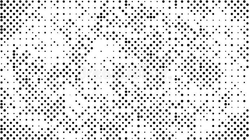Fond pointillé par image tramée Modèle tramé de vecteur d'effet Circ illustration de vecteur