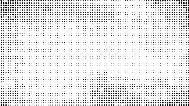 Fond pointillé par image tramée Modèle tramé de vecteur d'effet Circ illustration libre de droits