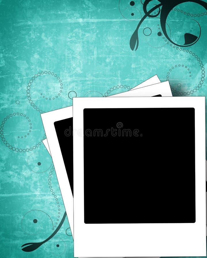 Fond polaroïd grunge illustration de vecteur