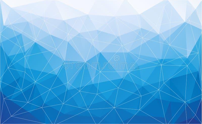 Fond polygonal abstrait illustration libre de droits