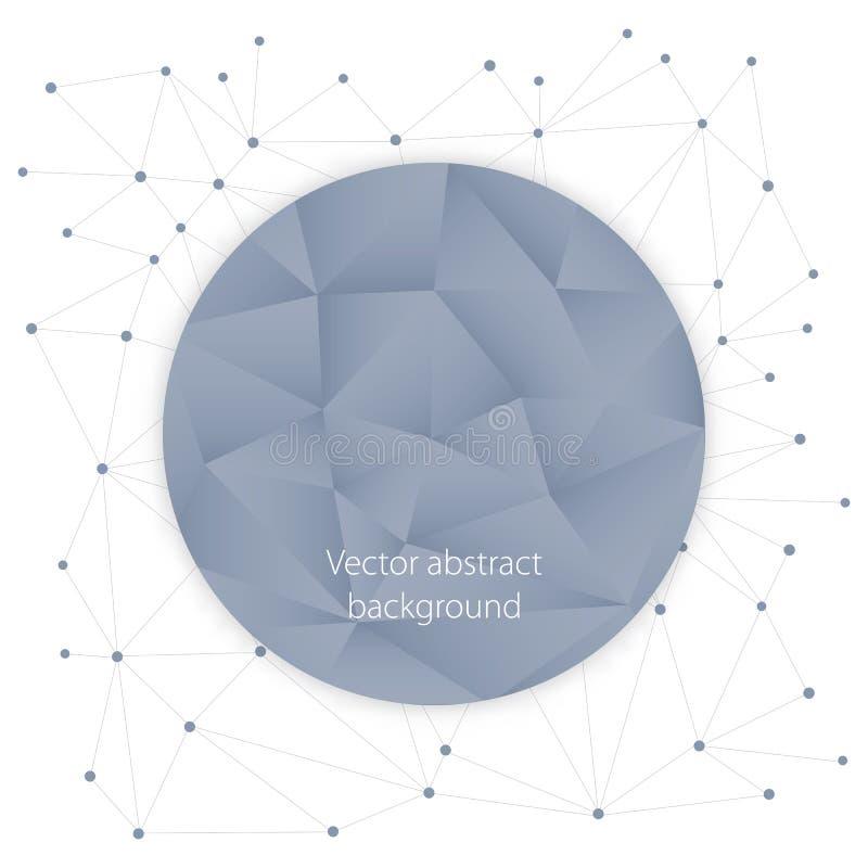 Fond polygonal abstrait avec des cercles, des lignes et la disposition de conception triangulaire de formes pour vos affaires illustration stock