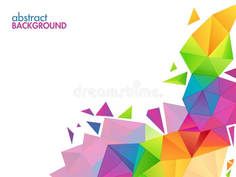 Fond polygonal abstrait créatif illustration de vecteur
