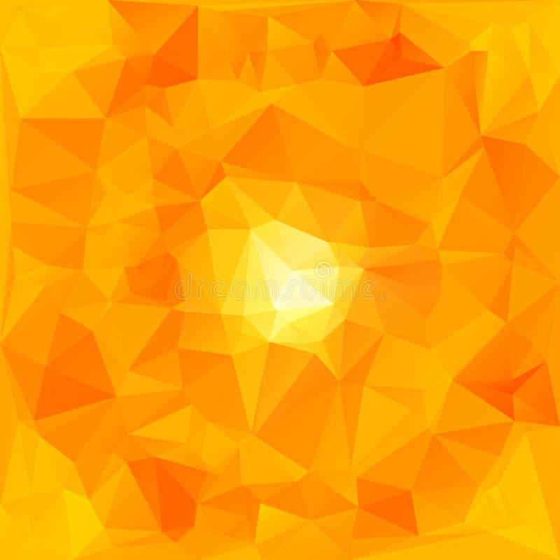 Fond polygonal abstrait Papier peint de mosaïque jaune illustration stock