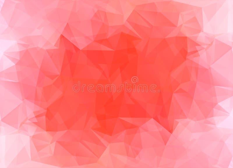 Fond polygonal abstrait Style futuriste Texture colorée géométrique de triangle illustration libre de droits