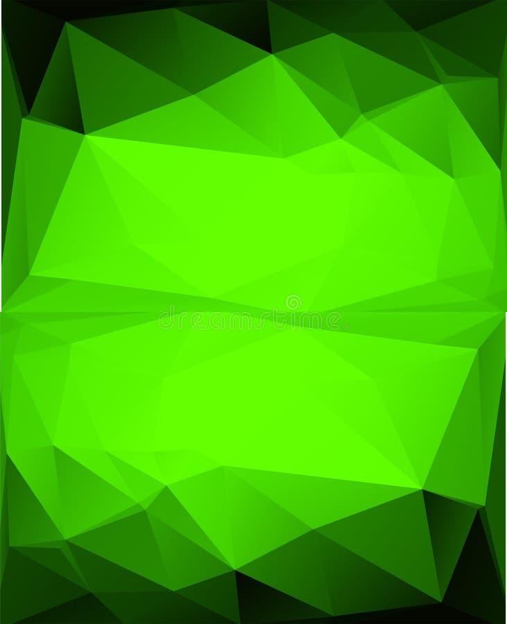 Fond polygonal abstrait Style futuriste Texture colorée géométrique de triangle illustration de vecteur