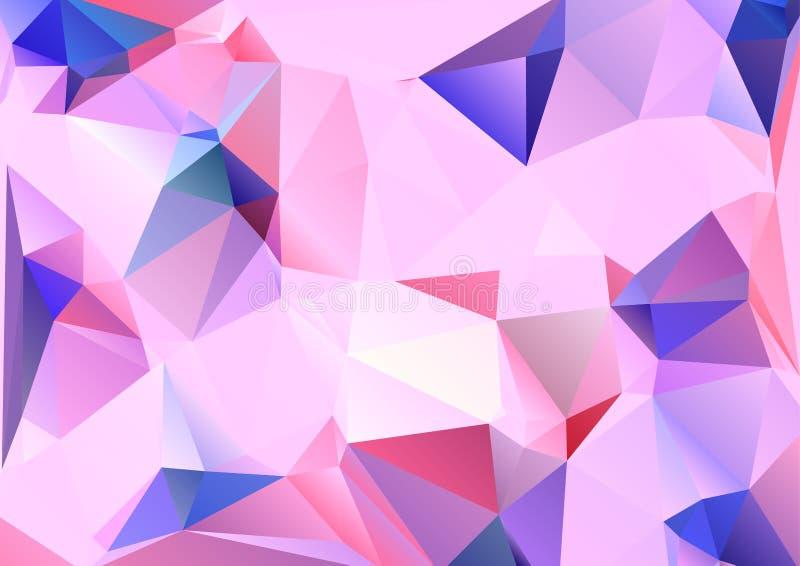 Fond polygonal abstrait Style futuriste Texture colorée géométrique de triangle Surface de Mosaical illustration de vecteur