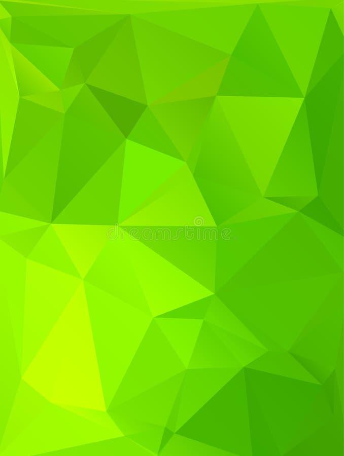 Fond polygonal abstrait Style futuriste Texture colorée géométrique de triangle Surface de Mosaical illustration stock