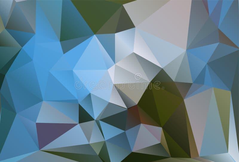 Fond polygonal abstrait Style futuriste Texture colorée géométrique de triangle Surface de Mosaical illustration libre de droits