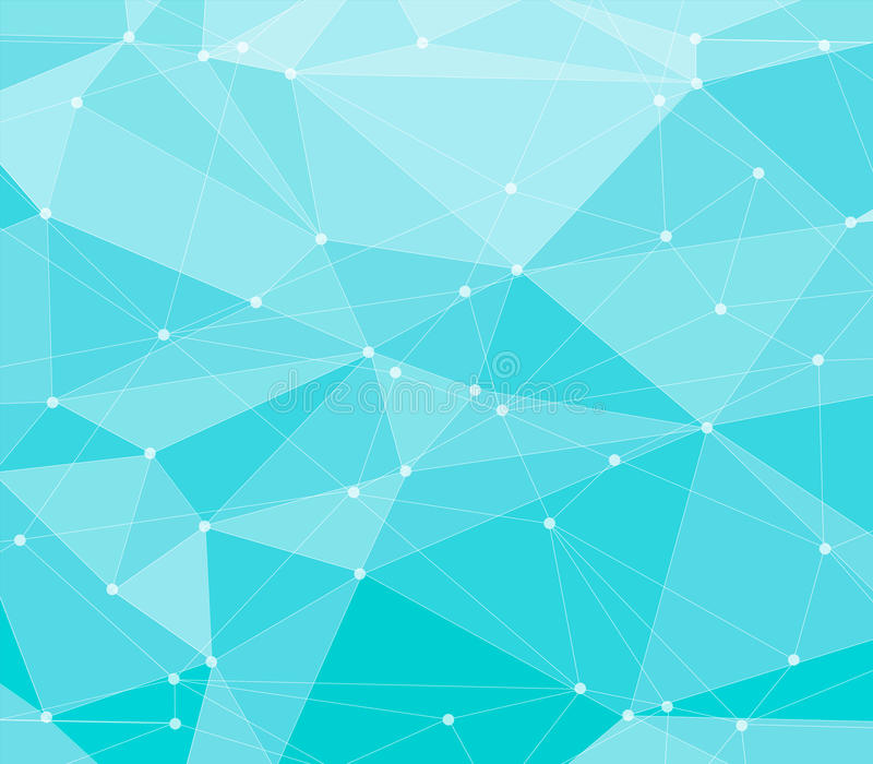 Fond polygonal bleu abstrait illustration stock