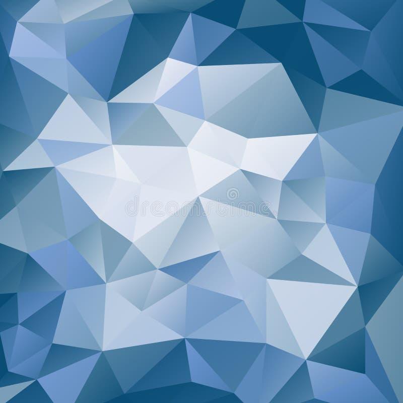 Fond polygonal bleu et blanc Modèle géométrique triangulaire Fond abstrait avec des formes de triangle illustration libre de droits