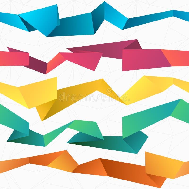Fond polygonal d'origami d'abrégé sur sans couture coloré vecteur illustration libre de droits