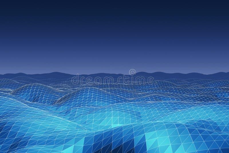 Fond polygonal de terrain illustration stock