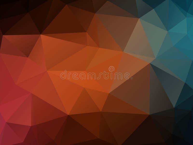 Fond polygonal de texture de couleur foncée illustration libre de droits