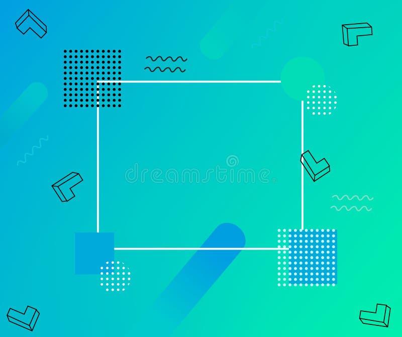 Fond polygonal géométrique de résumé avec les triangles colorées Peut être employé comme affiche, bannière, frontière, fond, papi illustration de vecteur
