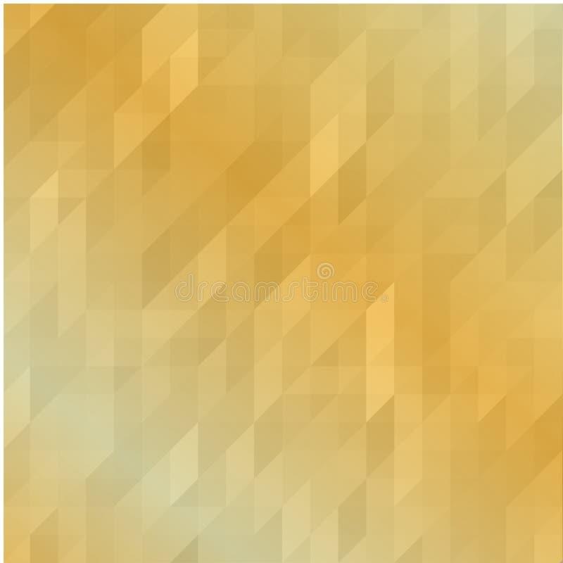 Fond polygonal géométrique en or Fond polygonal de mosaïque d'or lumineux, illustration de vecteur, design d'entreprise créatif T illustration stock