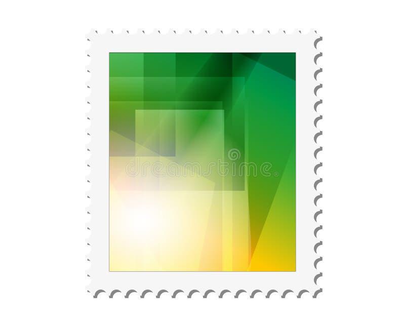 Fond postal de cadre de timbre de vecteur illustration abstraite de vecteur illustration stock