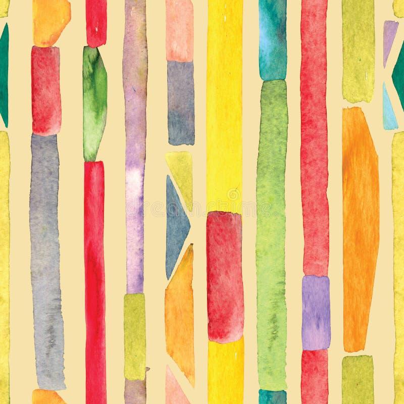 Fond pour aquarelle de rayure illustration libre de droits