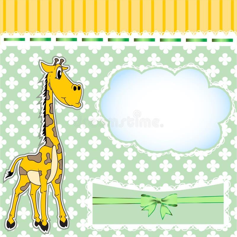 Fond pour des enfants avec une giraffe illustration de vecteur