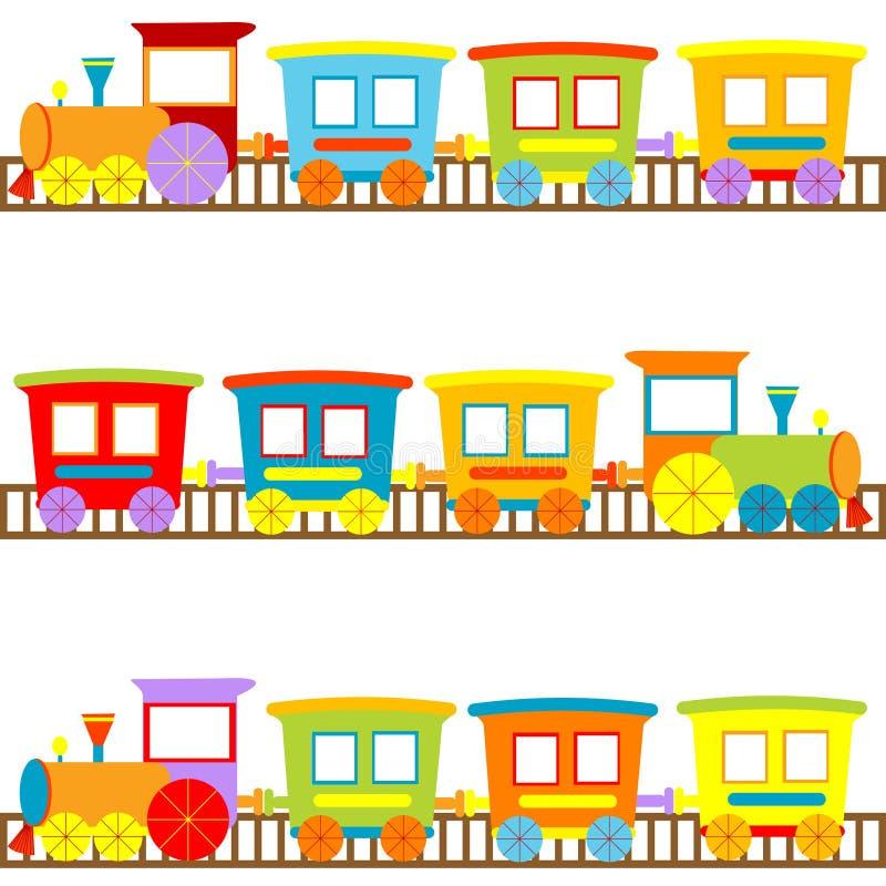 Fond pour des gosses avec des trains de dessin animé illustration de vecteur