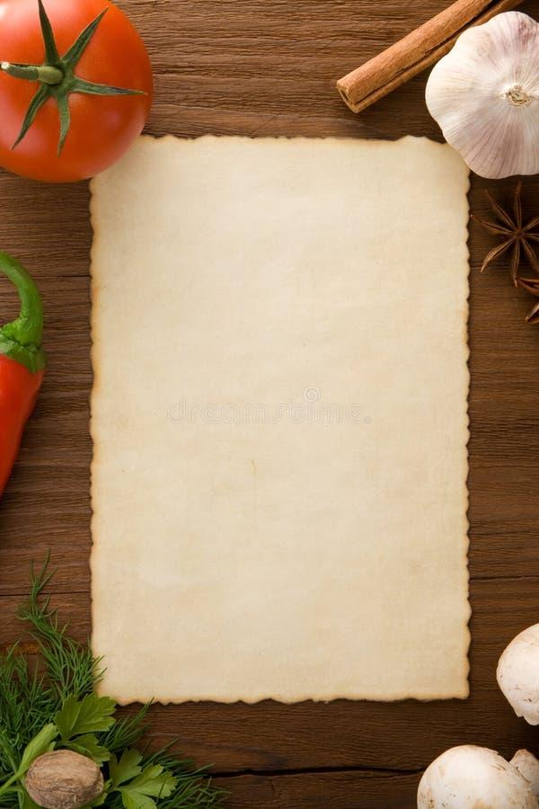 Fond pour faire cuire des recettes photo stock image du for Papier parchemin cuisine