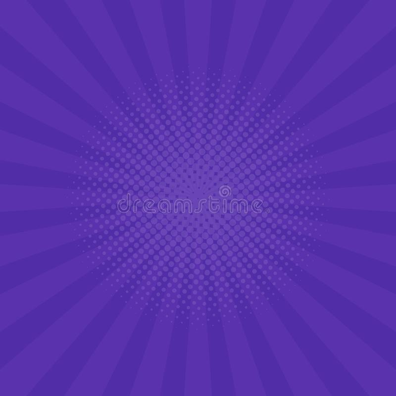 Fond pourpre lumineux de rayons Bandes dessinées, style d'art de bruit Vecteur illustration de vecteur