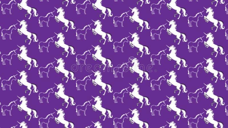 Fond pourpre simple avec quelques licornes illustration stock