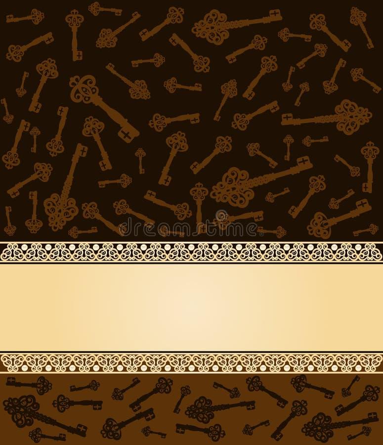 Fond principal antique de tapisserie. illustration stock