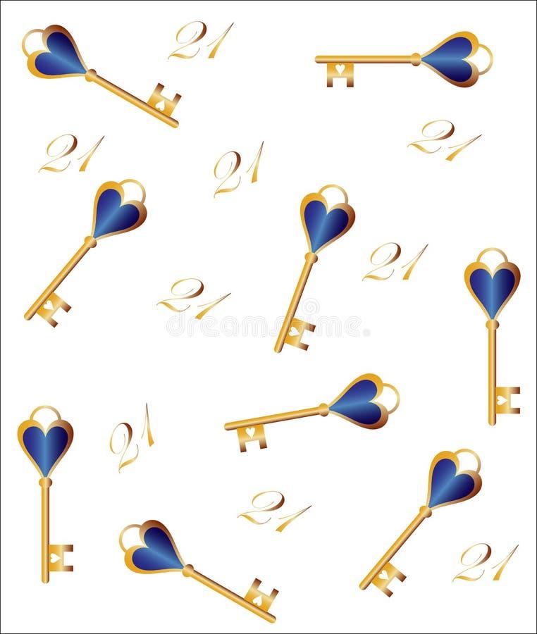 Fond principal de vingt et unième - 21ème anniversaire illustration stock