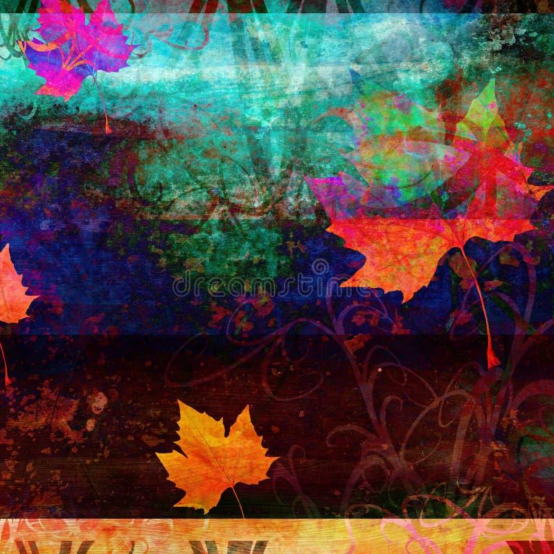Fond psychédélique grunge d'automne illustration stock