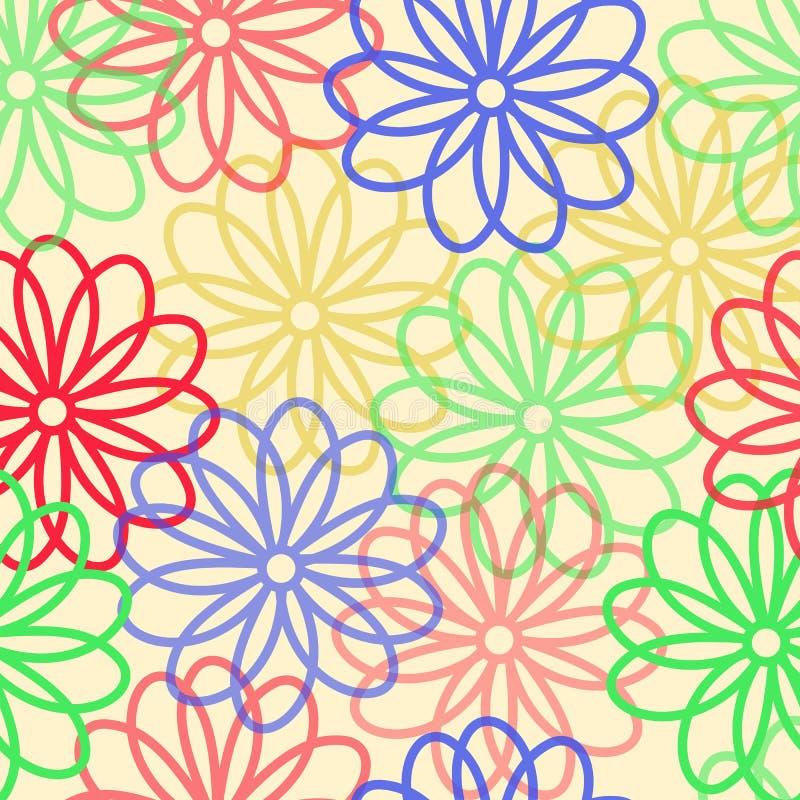 Fond qu'on peut répéter floral pour des papiers peints, des bannières et des couvertures illustration libre de droits