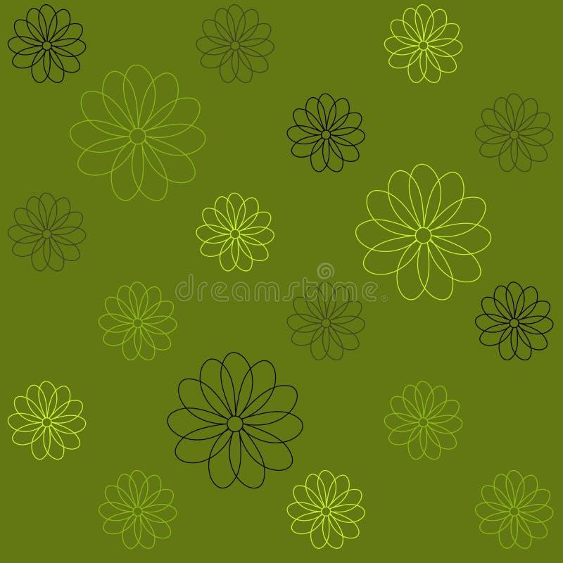 Fond qu'on peut répéter floral pour des papiers peints, des bannières et des couvertures illustration de vecteur