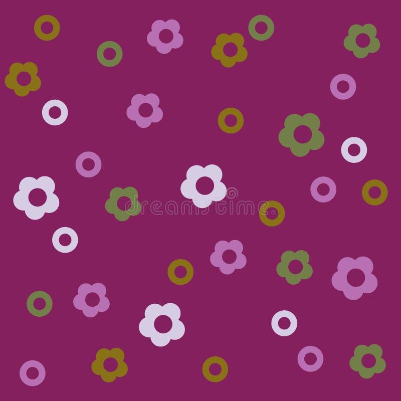 Fond qu'on peut répéter mignon floral pour des papiers peints, des bannières et des couvertures illustration stock