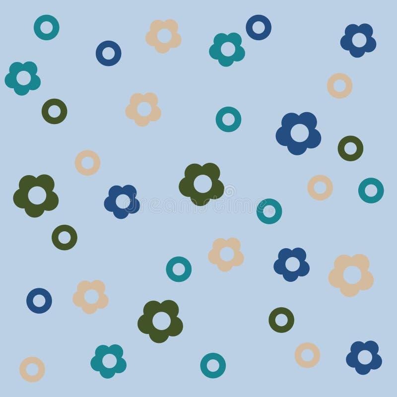 Fond qu'on peut répéter mignon floral pour des papiers peints, des bannières et des couvertures illustration libre de droits