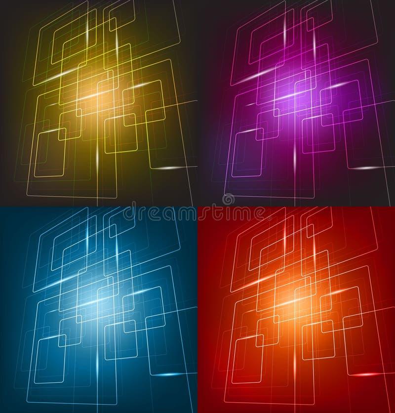 Fond quatre coloré illustration libre de droits